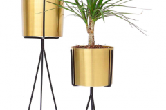 1. Brass Planter Set of 2 $49.95