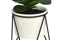 14. Ceramic and Metal Planter $17.50