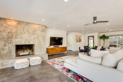 Custom Cement Wood Burning Fireplace  // Emily Wertz, Realtor // JustClickYourHeels.com